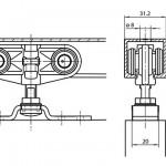 Okovi-za-klizna-vrata-sa-mehanizmom-valjaka,-Rollan-1